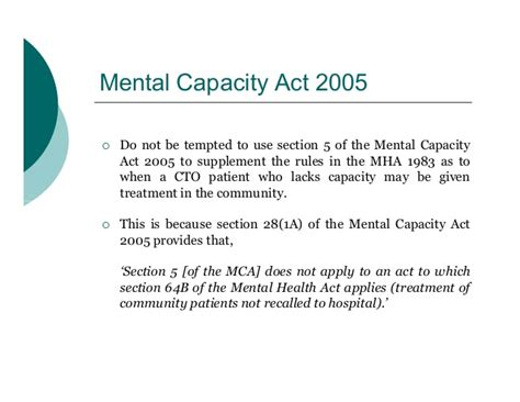 Mental Health Act Section 36 by Community Treatment Orders