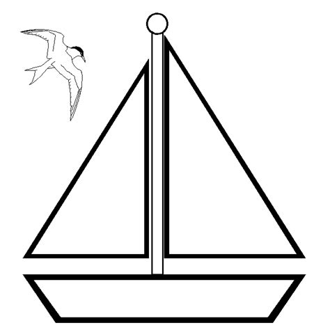 boat template sailboat template clipart best