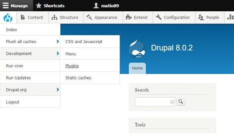 drupal themes administration drupal 8 module of the week admin toolbar acquia