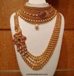 bridal gold sets grand bridal choker and haram set south india jewels