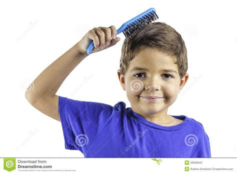 how to comb a boys hair child brushing hair stock image image of brush smiling