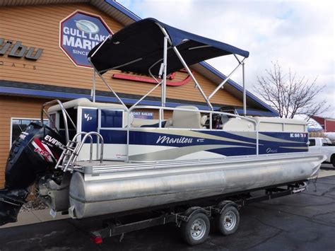 used pontoon boats for sale in upper michigan 2012 used manitou oasis v22 tritoon pontoon boat for sale