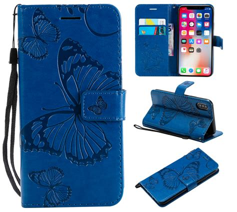 iphone xr wallet case allytech pretty retro embossed
