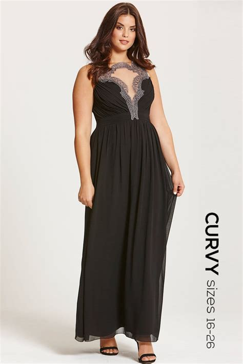 Embroidered Maxi Dress black embroidered maxi dress from uk