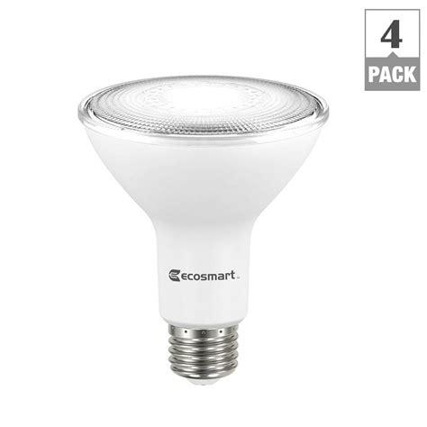 75 Watt Led Light Bulbs Ecosmart 75 Watt Equivalent Par30 Dimmable Led Flood Light Bulb Daylight 4 Pack