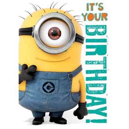 despicable me birthday card template minion birthday to me quotes quotesgram