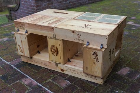 crafted wine box coffee table by the woodenthusiast