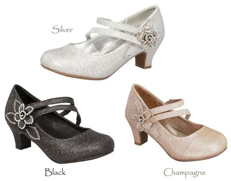 new black chagne gold silver dress shoes heels youth toddler ebay