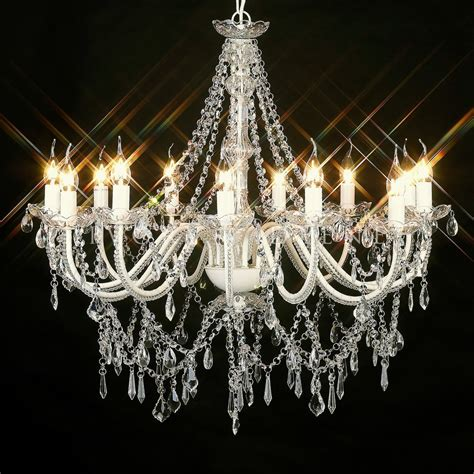 From A Chandelier New Large 12 Arm Vintage Glass Chandelier Light L Ivory Big Ebay