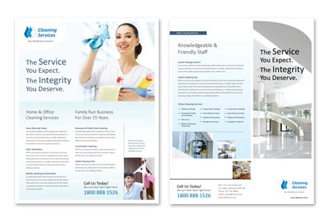 cleaning amp janitorial services datasheet template