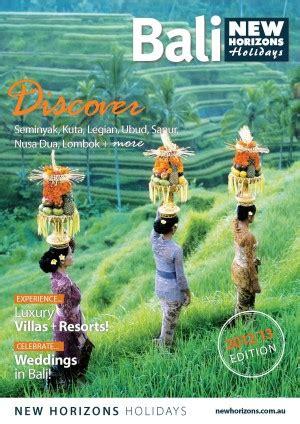 horizons holidays bali  travel daily