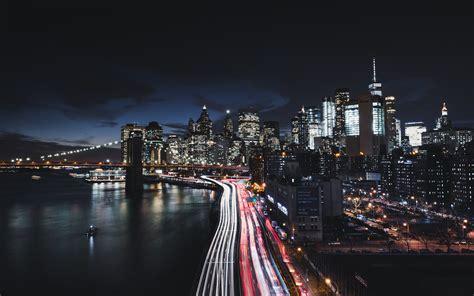 manhattan night in new york city 4k wallpapers manhattan new york city night cityscape 4k 8k wallpapers