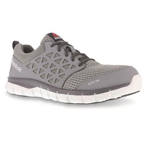 reebok work shoes reebok s sublite cushion composite toe work shoes