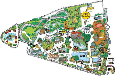 map city of park map frontier city