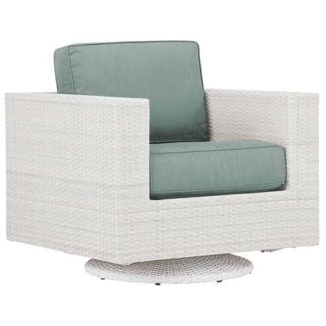 City Furniture Biscayne Teal Swivel Chair Teal Swivel Chair