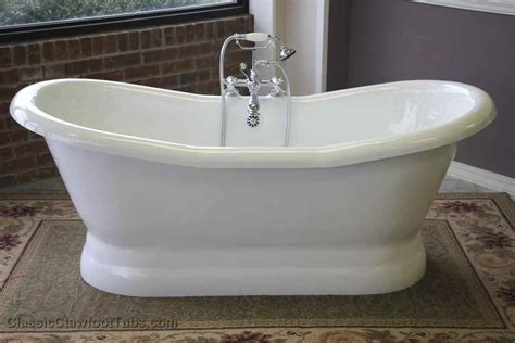 pedestal bathtubs 68 quot acrylic double ended slipper pedestal tub classic