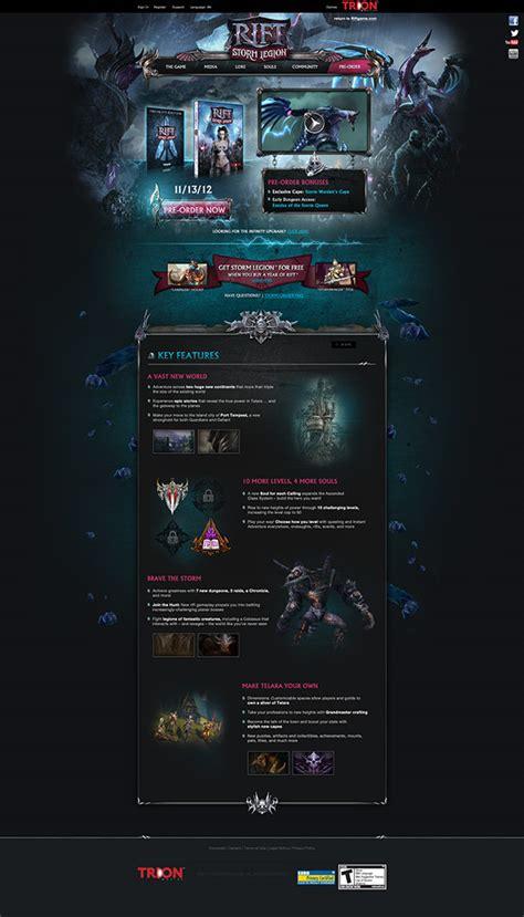 rift ui layout editor rift strom legion site on behance