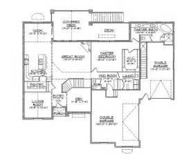 House Plans Rambler Traditional Open Rambler Home Plan Hwbdo74756