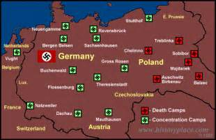 Concentration Camps In Germany Map by The History Place Holocaust Timeline Map Of
