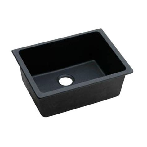 black single bowl kitchen sink elkay gourmet undermount e granite 25 in single bowl
