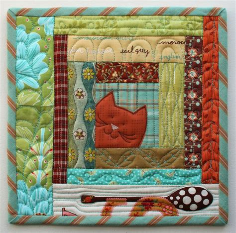 Patchwork Cat Quilt Block Patterns - 567 best images about cat quilts on cats