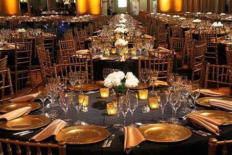 gray linens gold chiavari chairs   Black Pintuck Linens