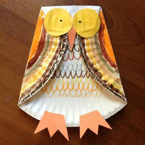 Owl Paper Plate Craft - owl paper plates and plates on