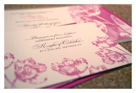 tulip wedding invitations wedding invitations with tulip watercolor