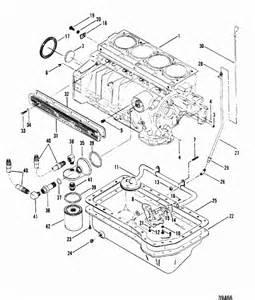 cylinder block pan for mercruiser 165 hp