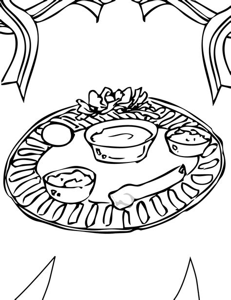 free coloring pages of passover