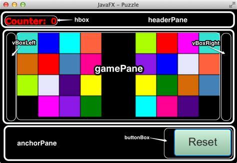 javafx tile layout javafx puzzle game