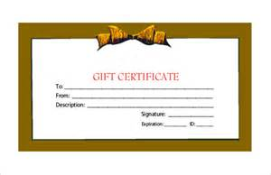 Pdf Gift Certificate Template by 20 Gift Certificate Templates Free Sle