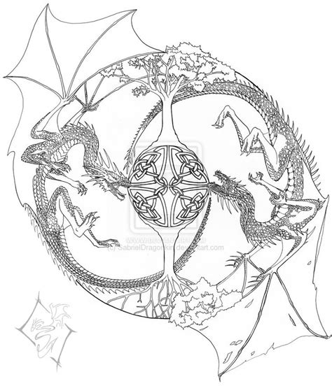 advanced coloring pages dragons mandala coloring pages advanced level google search