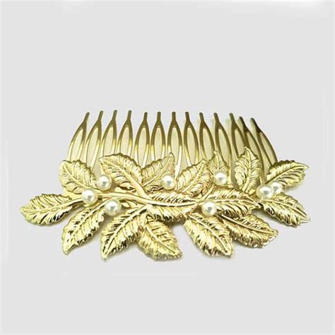 Vintage Bridal Hair Comb Etsy by Wedding Gold Hair Comb Bridal Leaf By Sukrankirtisjewelry