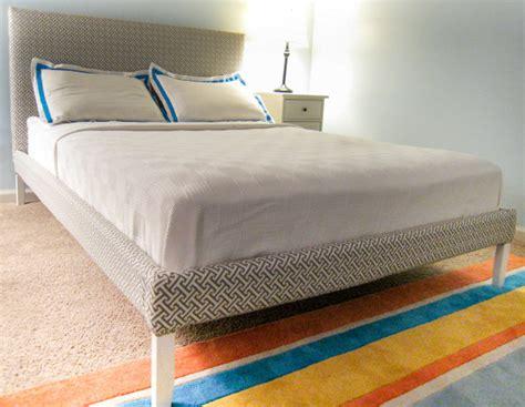 upholster bed frame ikea hack how to upholster a fjellse bed frame emmerson