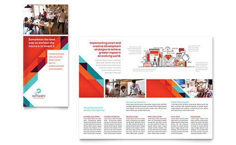 8 5x11 tri fold brochure template software developer 8 5x11 brochure templates technology