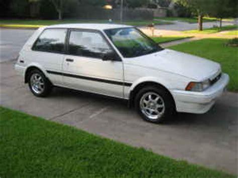 1988 Toyota Corolla Fx Details Corolla Fx 1988 Toyota Corolla Fx Fuel Economy