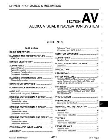 download car manuals 2010 nissan rogue security system download 2010 nissan rogue audio visual system section av pdf manual 165 pages