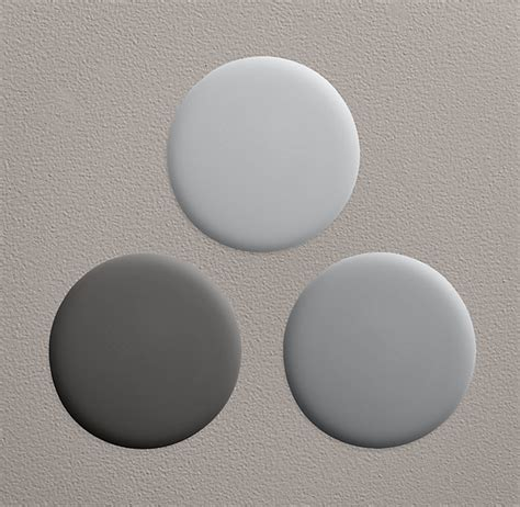 a of walls in the light grey restoration hardware flint paint collection new house