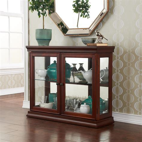 View Larger Glass Door Curio Cabinet