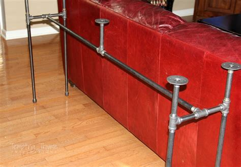 diy console table pipe legs hometalk diy industrial pipe sofa table
