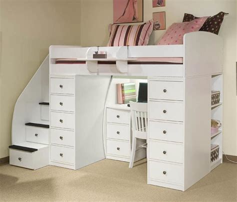 full size bunk beds with stairs full size loft bed with stairs and storage quality full