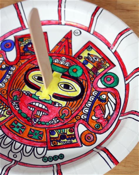 aztec crafts for make an aztec sundial activity education
