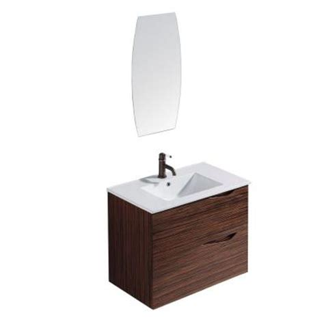 home depot vanity mirror bathroom vigo mayan 32 in vanity in espresso with porcelain vanity