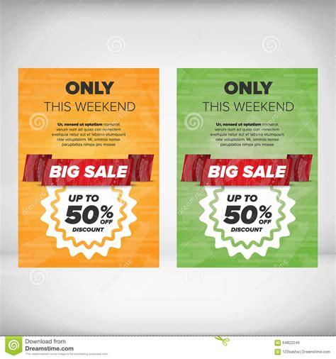 discount flyer template big sale flyer template stock vector image 64822249