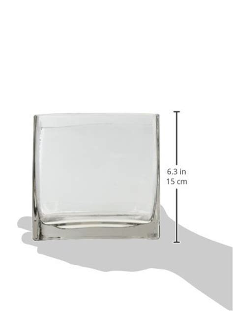 6 Square Vase by 6 Quot Square Glass Vase 6 Inch Clear Cube Centerpiece