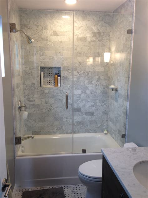 Bathtub Shower Stall Combination Shower Doors Project Pacific Palisades Y9 Inc