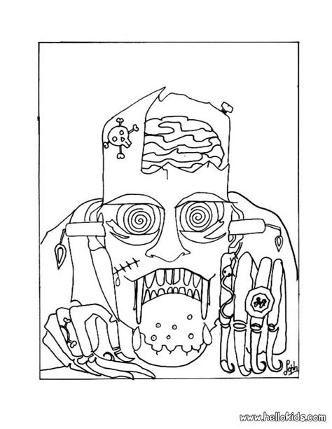 coloring pages of scary halloween halloween scary masks coloring pages az coloring pages