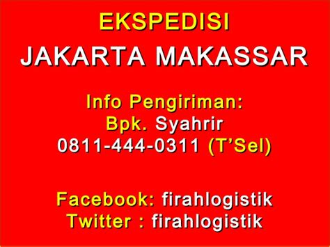 Sinensa Makassar 0811 444 0311 ekspedisi murah dari jakarta ke makassar