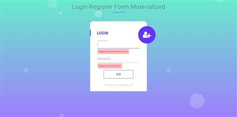 layout login mvc login registration form in mvc materialize design by
